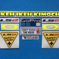 Cutting Sticker Stiker Visor Set Paket LS2