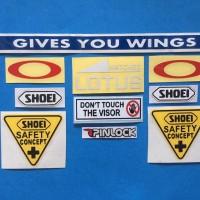 Cutting Sticker Stiker Visor Set Paket Shoei