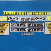 Cutting Sticker Stiker Visor Set Paket HJC