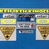 Cutting Sticker Stiker Visor Set Paket KBC