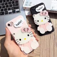 Cute Hello Kitty Mirror Silicone Phone Case VIVO Y66 Y67 Y69 Y55 Y79