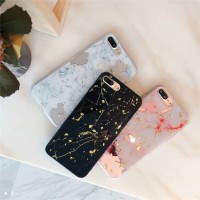 Glitter Marble TPU HP Casing for iPhone 6 6s 7 8 Plus Back Case Cover