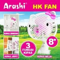 "Kipas Angin Jepit 8"" inch Hello Kitty Arashi HK FAN Clip Meja Dinding"