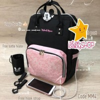 Tas Bayi Anello Dokoclub Diaper Bag Mickey Mouse Bag Minnie Diaperbag
