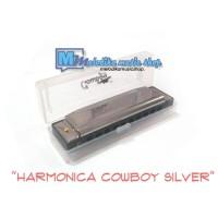HARMONICA / HARMONIKA COWBOY SILVER