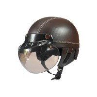 NEW Retro Helm Anak Kaca Model Bogo Warna Coklat