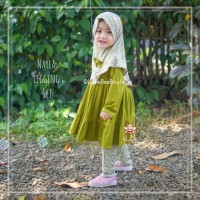 eLBi Setelan Baju Muslim Anak Perempuan - Blouse Tutu Lucu Size 5-6thn
