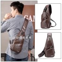 Tas selempang Pria/Sling Bag Pria Kulit Leather Premium Impor