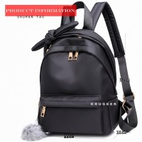 Tas Ransel Backpack Impor Anak Cewek Remaja Putri Desain Pita 6965