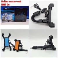 Holder Motor + USB Charger Universal GPS Hp Mount HMT-06 4 Sisi