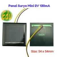 Panel Surya Mini / Solar Cell 2V 100mA DIY Untuk Charger Baterai 1.2V