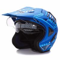 HELM RETRO HELM KYT HELM INK WTO Helmet Pro Sight Cross Seablue Doff