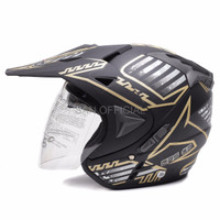 HELM RETRO HELM KYT HELM INK WTO Helmet Pro Sight Cross Hitam Doff Go