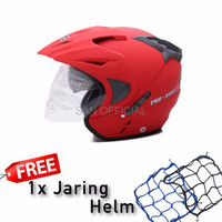 HELM RETRO HELM KYT HELM INK WTO Helmet Pro Sight Merah Doff Promo Gr
