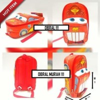 Promo Tas Sekolah Anak 3D Cars Mc Queen On The Road Best Quality Tbk
