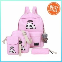 Hot Produk Backpack Fashion Panda (Tanpa Boneka) - Pink Berkualitas