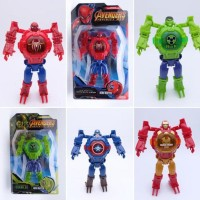 Best Seller Jam Tangan Anak Robot Digital Led Avengers Ironman Hulk