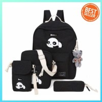Best Seller Backpack Fashion Panda (Tanpa Boneka) - Hitam Murah