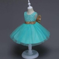 Dijual Ga2524 Quincy Dress Tosca (Bajukiddie) Dress Anak Pesta Import