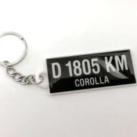 Hot Produk Gantungan Kunci Akrilik Plat Nomor Motor Mobil Custom