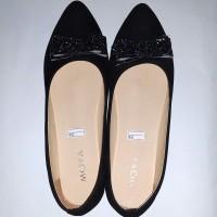 Glitter Scraft Flatshoes - Black