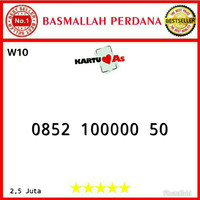 Nomor cantik Telkomsel As Seri Panca 00000 0852 100000 50 mw10