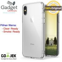 Original Ringke Fusion Case iPhone X - Clear / Smoke Black - Putih
