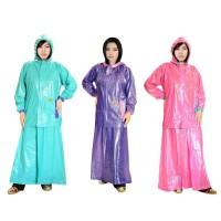 Jas Hujan Wanita Muslimah Jaket Rok Puspa