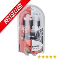 KABEL MIDI To USB / USB To Midi STOK BANYAK BOS Packing Jelas dan Ori