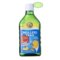 Mollers Tran Cod Liver Oil Moller's Minyak Ikan 250 mL - Tutti Frutti