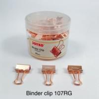 Binder Clip Fancy JOYKO 107RG Warna Rose Gold isi 40 Klip Serbaguna