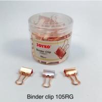 Binder Clip Fancy JOYKO 105RG Warna Rose Gold isi 60 Klip Serbaguna