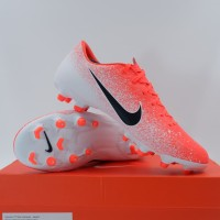 Sepatu Bola Nike Vapor 12 Academy FG/MG Crimson White AH7375-801 Ori