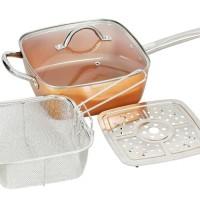 Square pan with lid 24cm / panci kotak 24cm Vicenza / VSP24 Vicenza