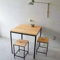set meja cafe ukuran 60x60x70