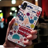 Casing 3D London Inggris Softcase iPhone 6 6S 7 8 Plus X XR XS Max - 6P atau 6SP