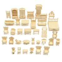 Unik DIY Mini 34pcs/set Kids Educational Doll House Accessories