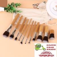Bamboo Makeup Brush Set 11PCS Natural Kuas Make Up