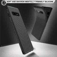 SAMSUNG GALAXY S10 PLUS SOFT LINE TPU CARBON CASE SILICONE BACK COVER