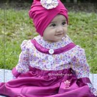 eLBi Blooming Dress - Dress Pesta Anak perempuan - Baju Muslim Balita