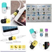 Adaptor Kapsul 2in1 Splitter Iphone 7/8/X/ Sambungan Kabel Headset