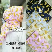 Hijab Premium Jilbab Segi Empat Motif banana