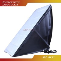 Payung Softbox Reflektor 50x70cm E27 Single Lamp Socket - 60x90 cm