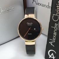 Jam Tangan Wanita Alexandre Christie AC 2509 Original - Black Rosegold