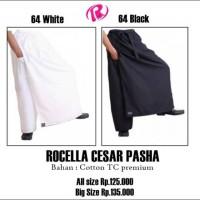 Celana sarung pasha hitam dan putih polos size standar dn jumbo