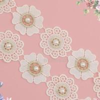 renda bunga motif sedang