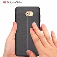 Samsung Galaxy C9 Pro slim leather case auto focus carbon soft