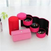 kotak perhiasan / jewelry box 3 susun cylinder