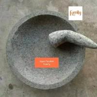 (30cm) Ulekan / Mutu dan Coet / Cowet / Cobek Batu Asli 30 cm