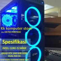PC GAMING INTEL CORE I5 9400F & GTX 1060 6GB DDR5 OC RAKITAN REQUEST